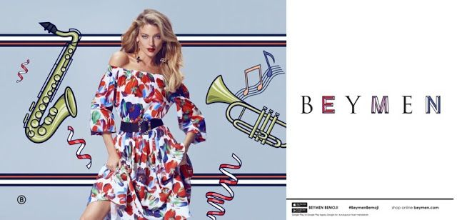 Fantasy Fashion Design: Martha Hunt destaca en la colorida campaña de Beymen primavera-verano 2017