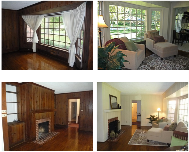 Painted Paneling B&A Photos! - Painted Paneling B&A Photos! Paint Wood Paneling