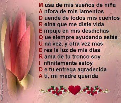 Poemas Para El Dia De Las Madres Cortos Y Bonitos Poema Para La