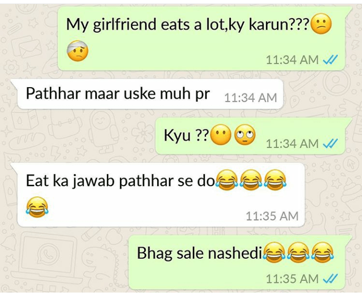 Funny whatsapp Conversation | Funniest Whatsapp Chats