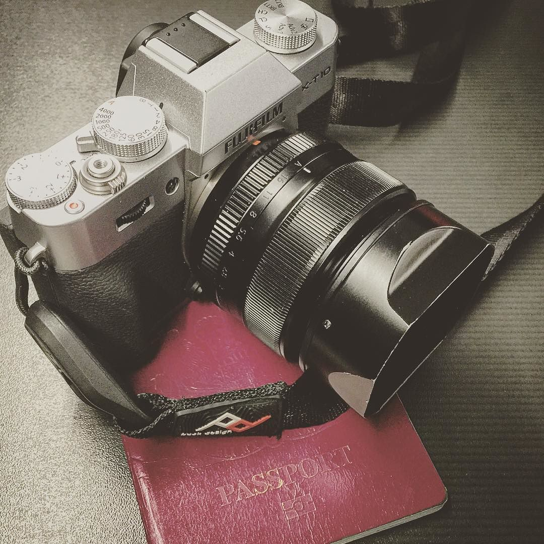 4 things that should be in your bag.  Fujifilm X-T10 Fujinon 35mm f1.4 Passport Peak Design Strap  #travelshooteditrepeat #xphotographer #lifeasaphotographer #photographer #photography #photo #photographersofinstagram #Fujifilm #fuji #fujifilm_xseries #fujixt10 #peakdesign #travel #traveller #globetrotter #travelphotography #travelling
