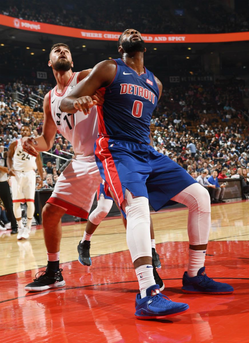 ad3ae7499d1 Andre Drummond Air Jordan 32 Low Pistons PE | Basketball is the best ...