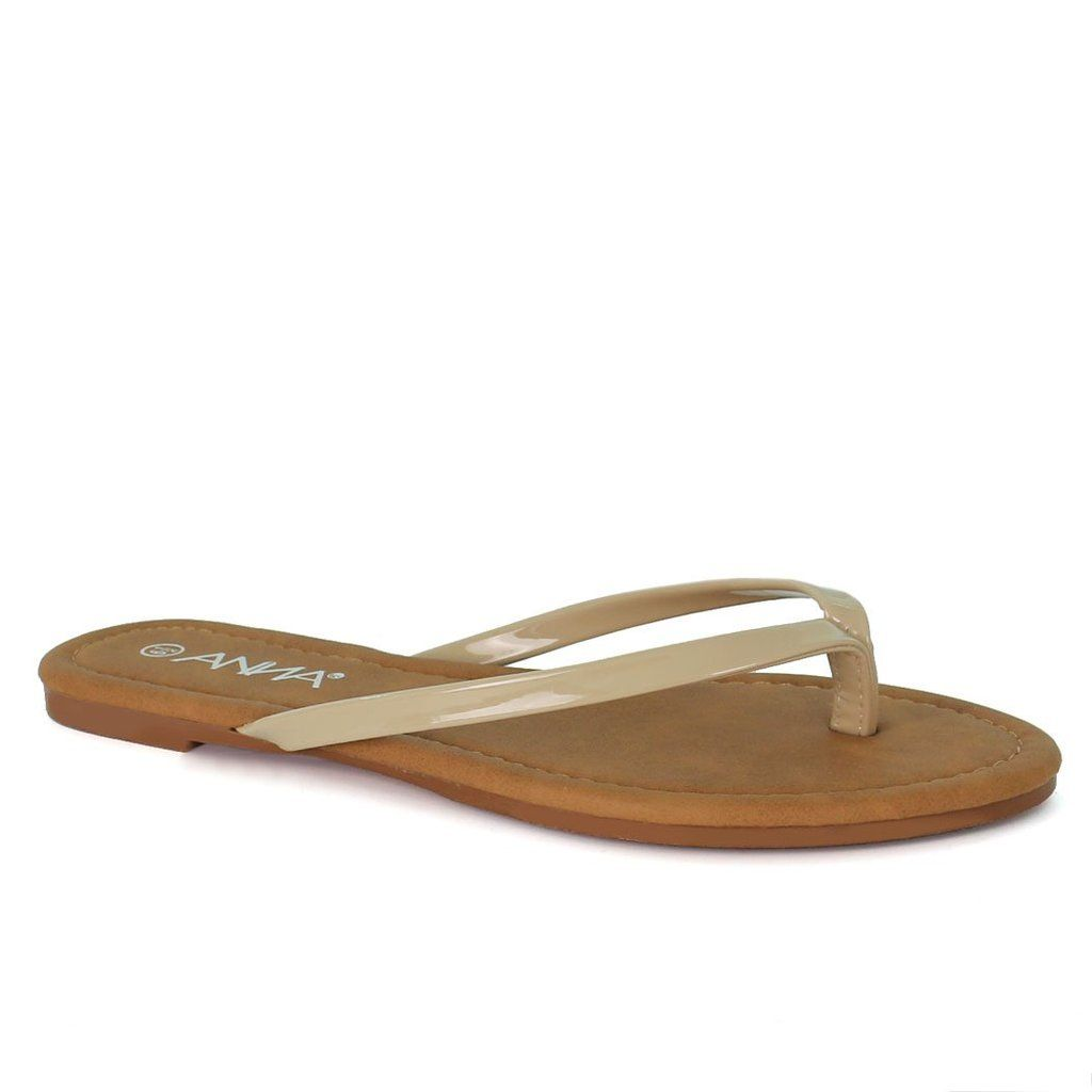 Faby-2 Simple Flat Thong Sandals