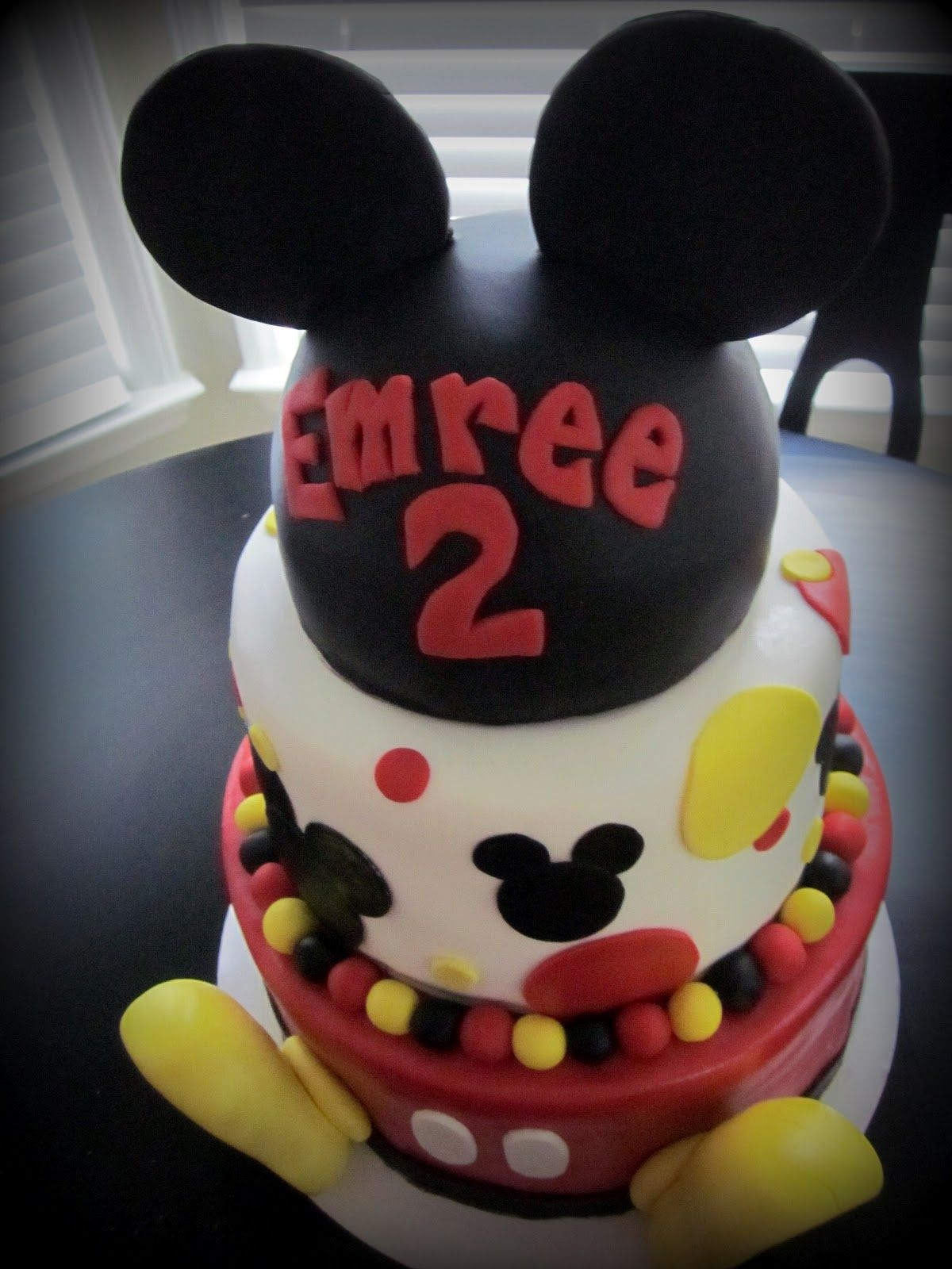 Darlin designs mickey mouse birthday cake mickey mouse