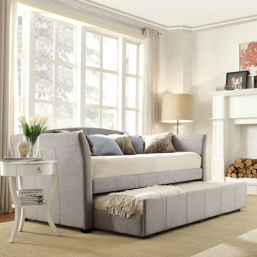 homevance myra twin daybed in 2020  daybed in living room