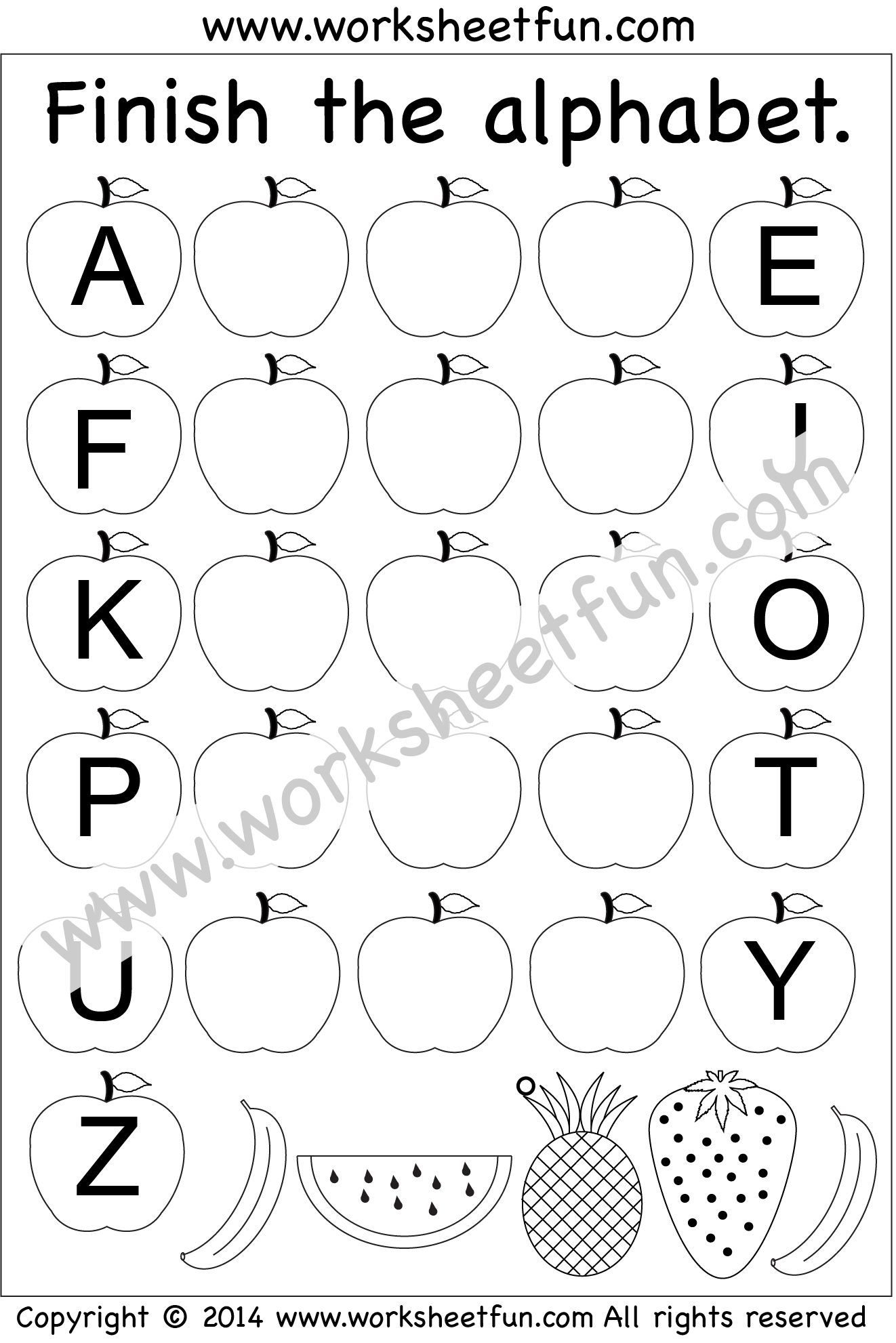 worksheet Fill In The Missing Letters Of The Alphabet Worksheet missing letters pinterest worksheets uppercase le