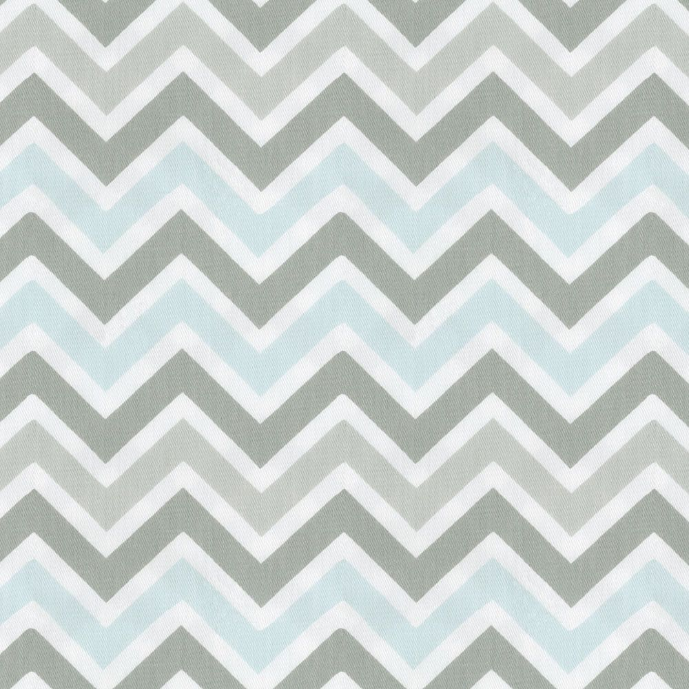 Chevron print fabric by the yard - Mist And Gray Chevron Fabric By The Yard Carouseldesigns