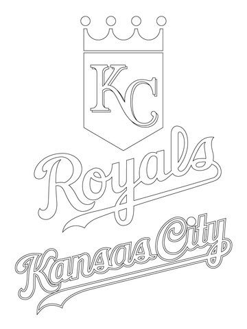 Kansas City Royals Logo coloring page from MLB category. Select from ...
