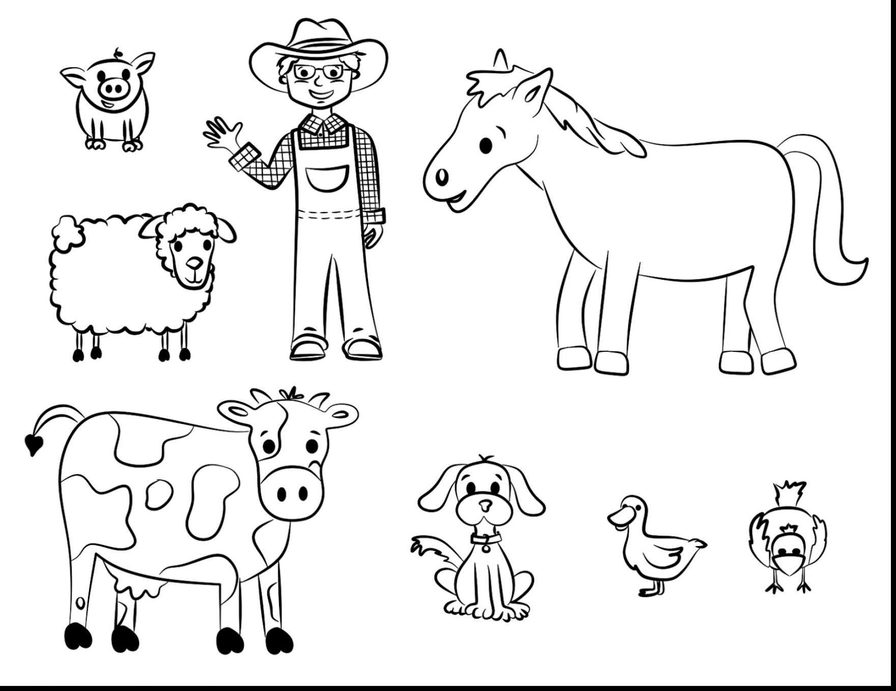Free Printable Domestic Animals