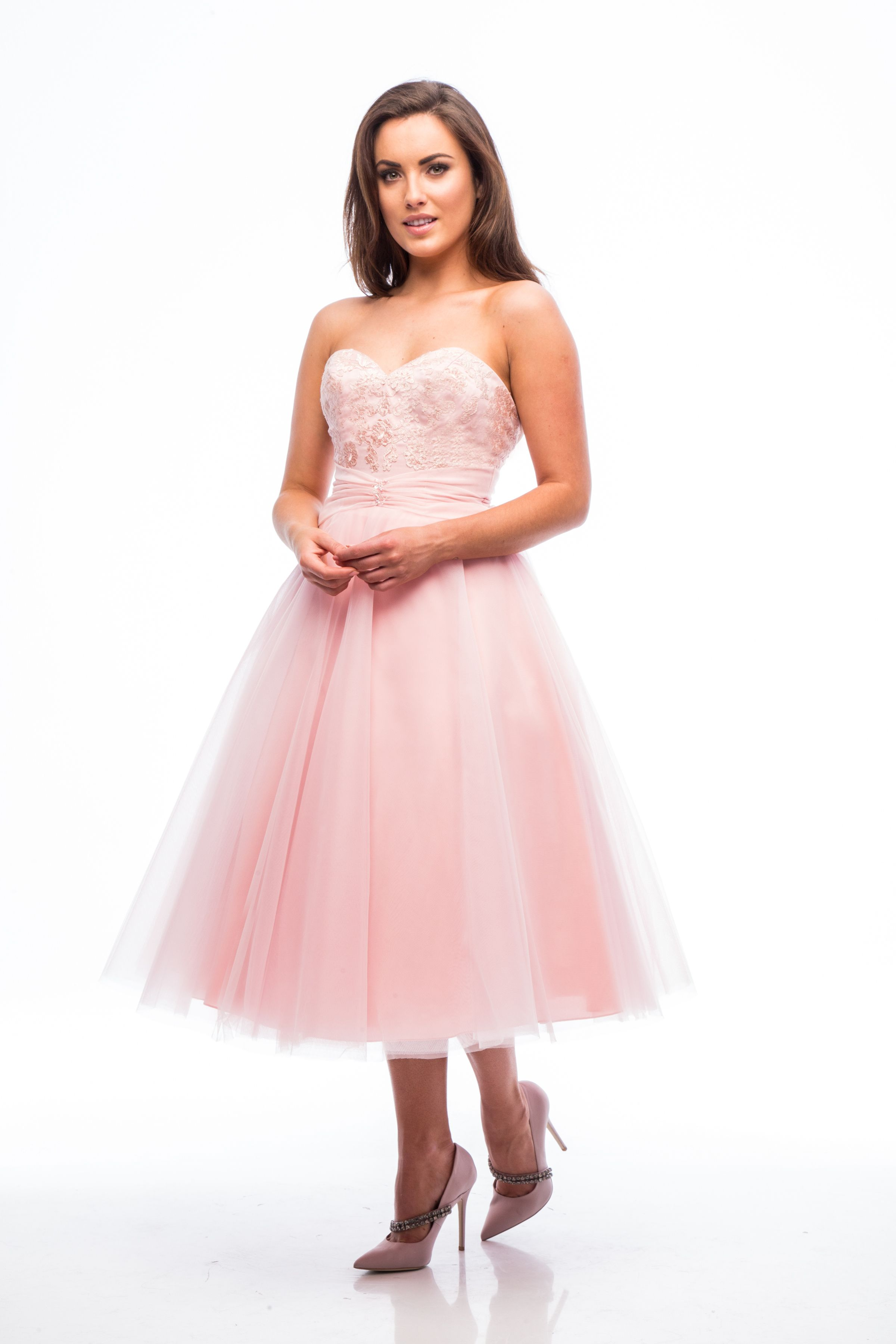 Tulle bridesmaid dress in melon. | Special Day Bridesmaids | Pinterest