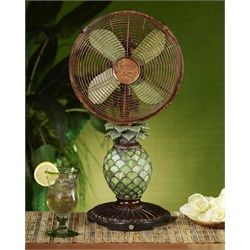 Elegant Tropical Pineapple Night Light Lamp and Oscillating Table Top Fan...I love old-fashioned fans and this one has enough interesting features to make it fun to leave out...