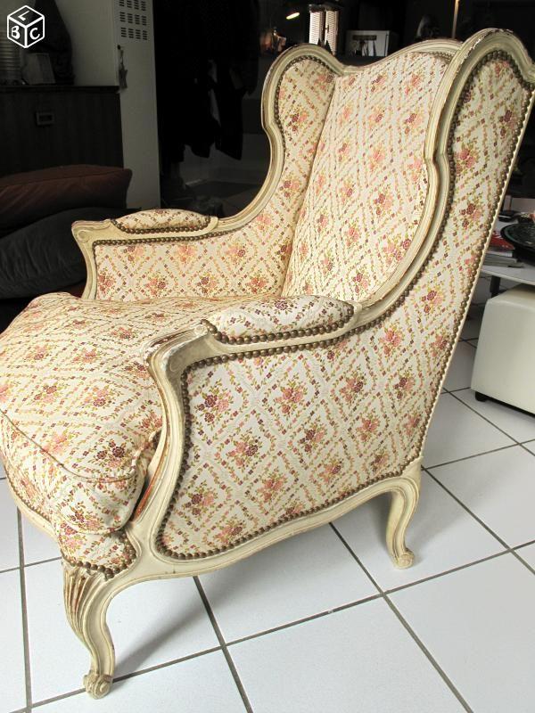 fauteuil bergere louis xvi a oreille