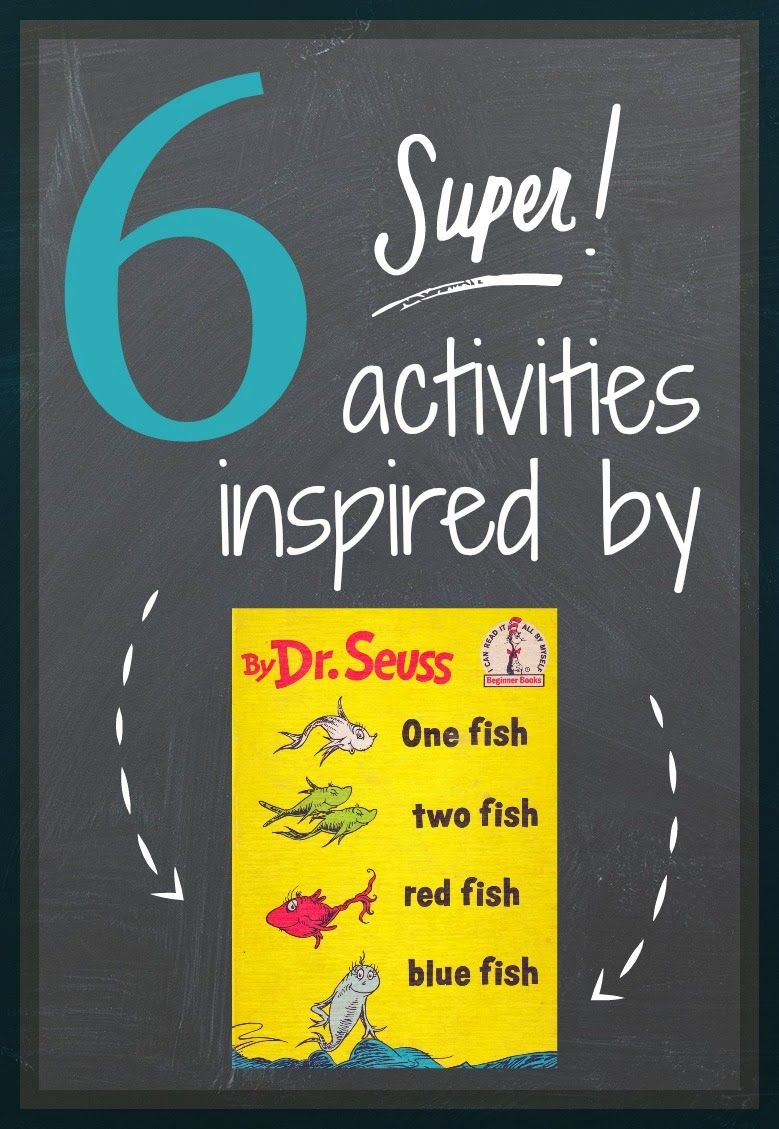 Read across america book week one fish two fish red fish for Blue fish book
