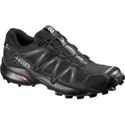 Salomon Men's Speedcross 4 Trail Running Shoes, Grape LeafBurnt OliveBlack, 8.5 Wide