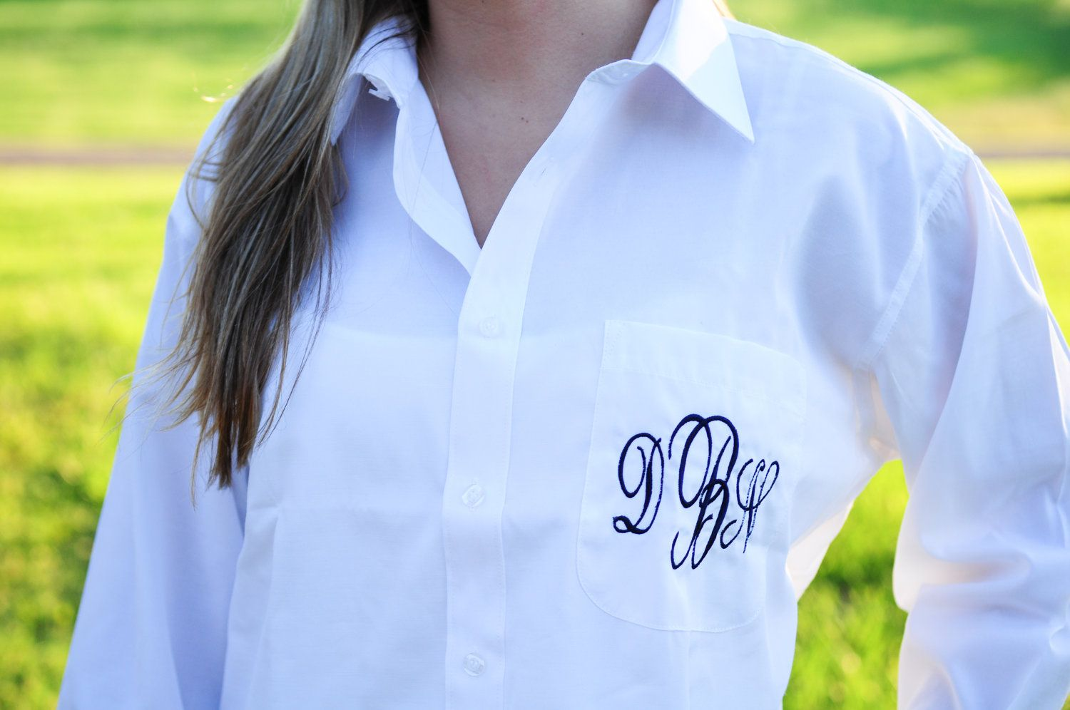 Bride Bridesmaids Oversized Monogrammed On Down Shirts 24 99 Via Etsy