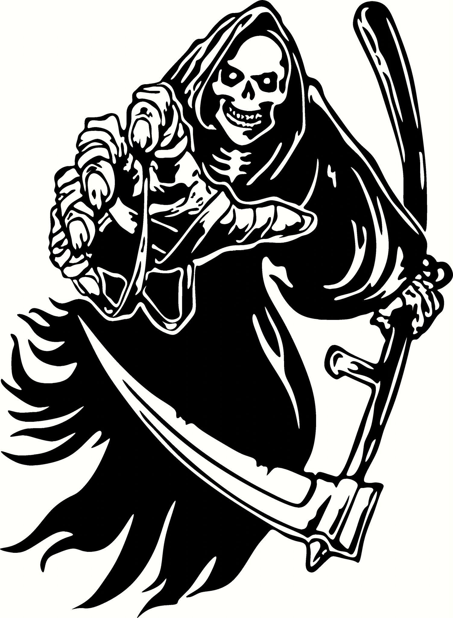 Grim Reaper Reaching Vinyl Cut Out Decal Sticker In Your