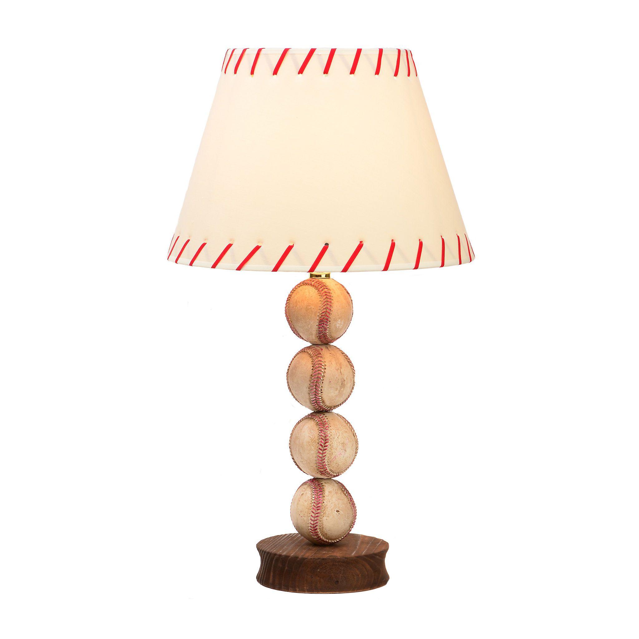 Stacked baseball table lamp baseball table and room stacked baseball table lamp geotapseo Image collections