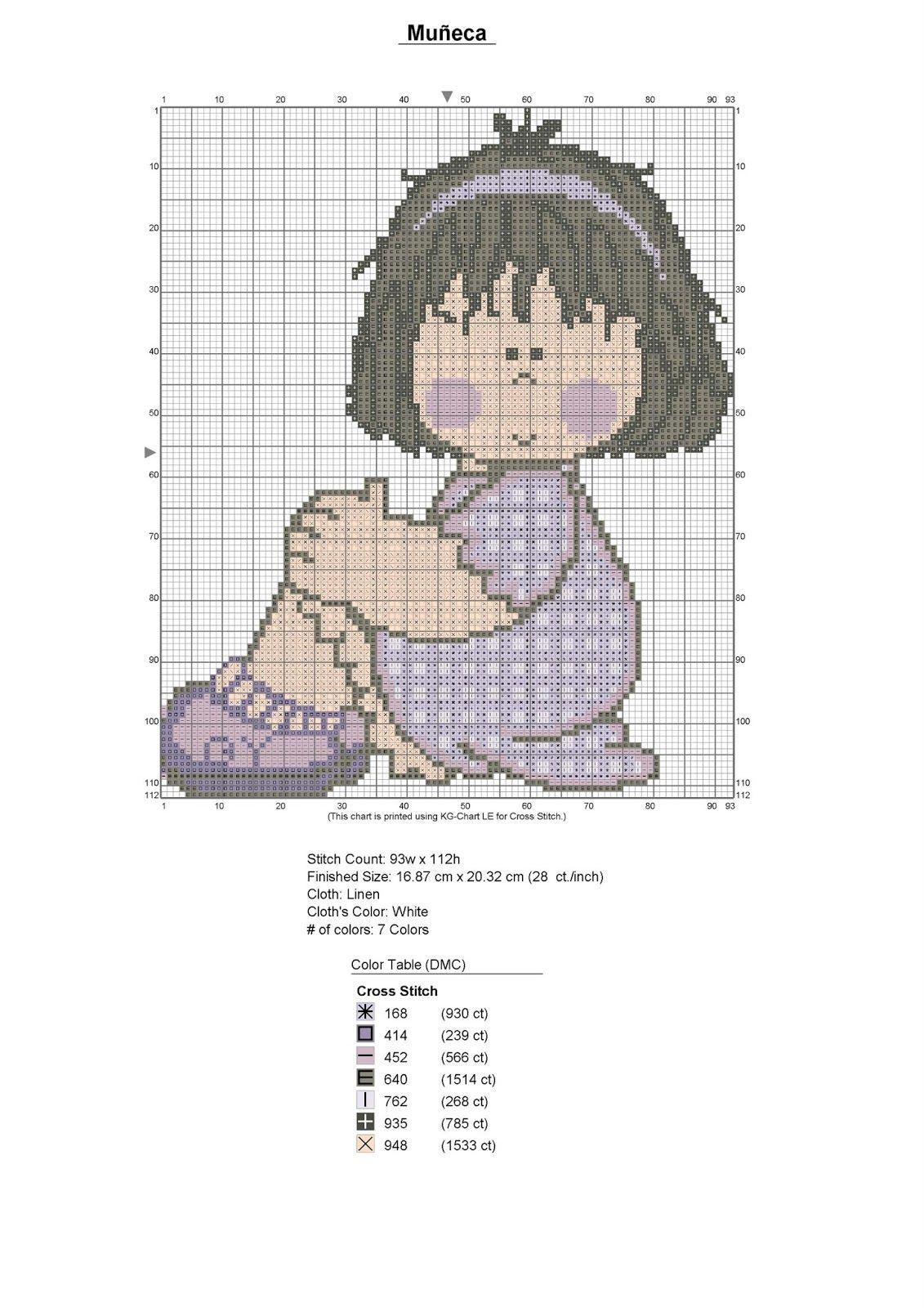 Muñeca+en+patrones+punto+de+cruz+(Custom).jpg (1131×1600) | Products ...