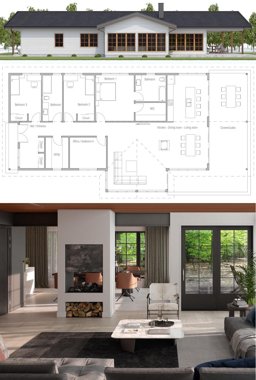 Plan De Maison Plan Maison Maison Plan Maison Moderne