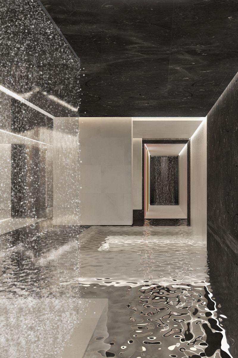 Spa interior for Kokkedal Slot in Denmark by Studio David Thulstrup 2012 ⎮