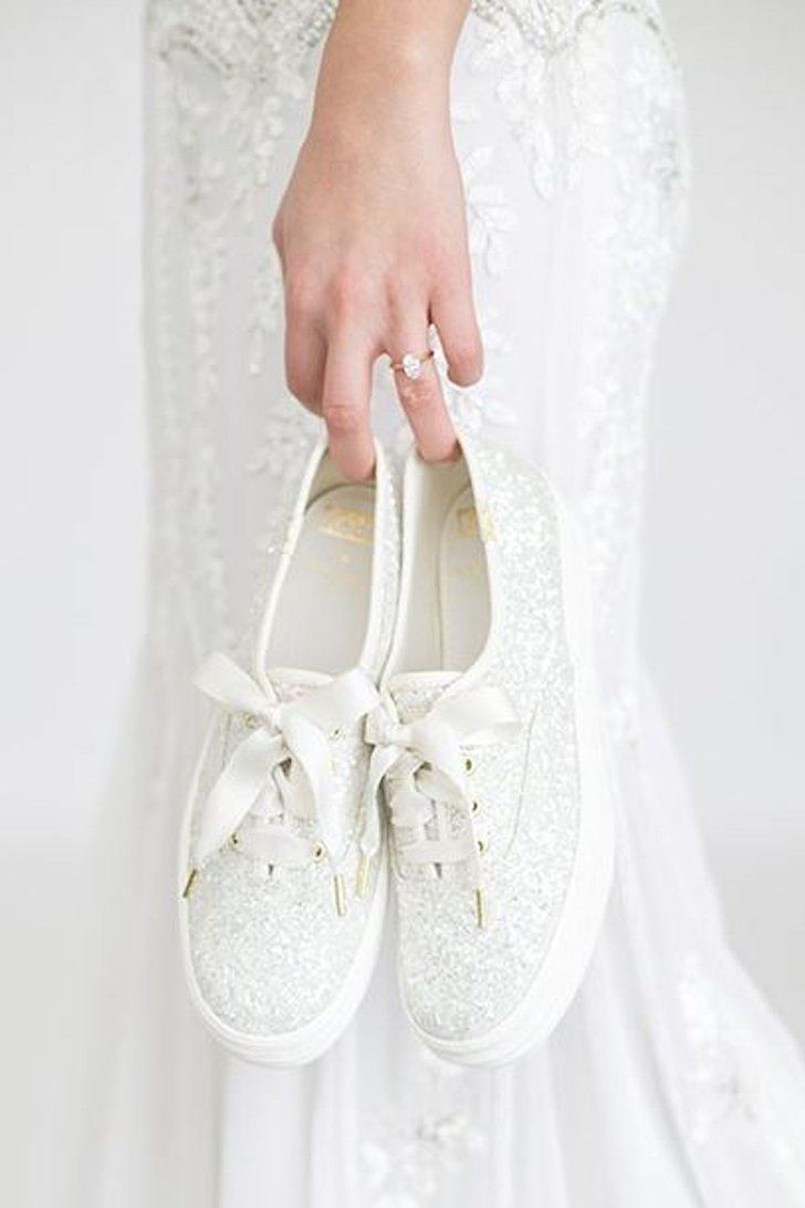 d3381b474168 Brides! Kate Spade and Keds Just Released Comfy Wedding Sneakers — Shop  Them Now