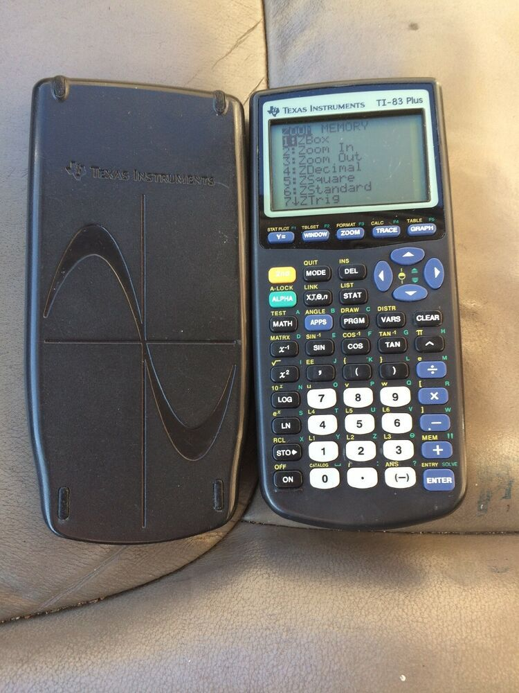 Office Texas Instruments Ti-83 Plus Graphing Calculator With Slide Cover Tested Working High Resilience Calculators