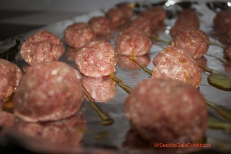 SEAHAWKS Meatballs. Perfect for Seattle Super Bowl!