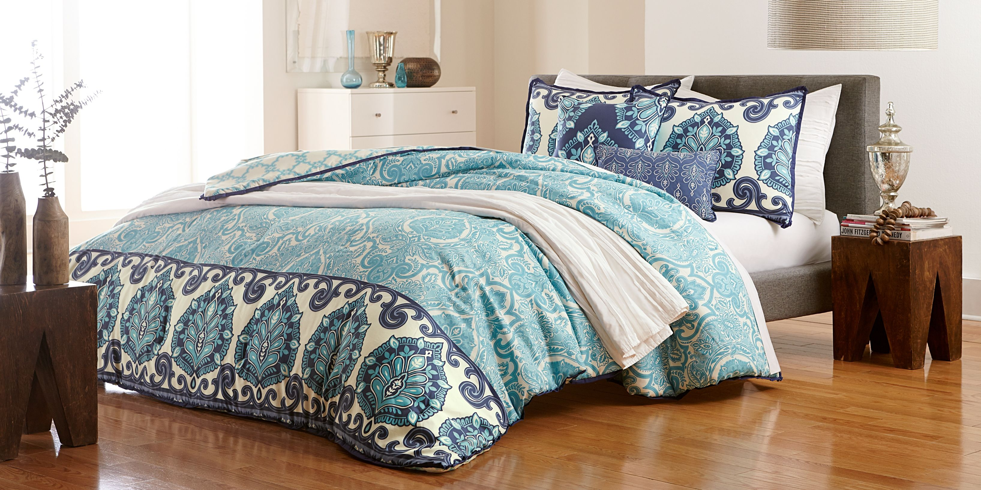 bed tiffany tree full queen set palm blue tropical and black sets red comforter sheets