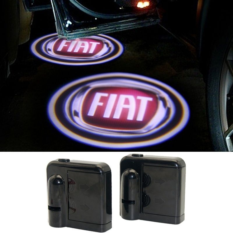2 X Led Car Door Light Ghost Shadow Light Welcome Laser Projector