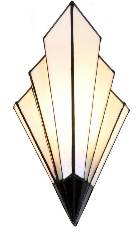Schmale Design-TIFFANY-Wandlampe VICHY. 1xE-14, 40W. 39hx20bx12,5cm ...