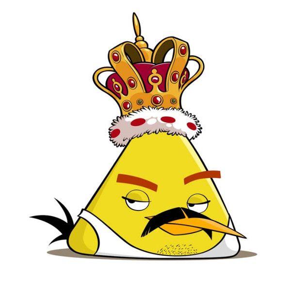 Chuck de Angry Bird disfrazado de Freddie Mercury.