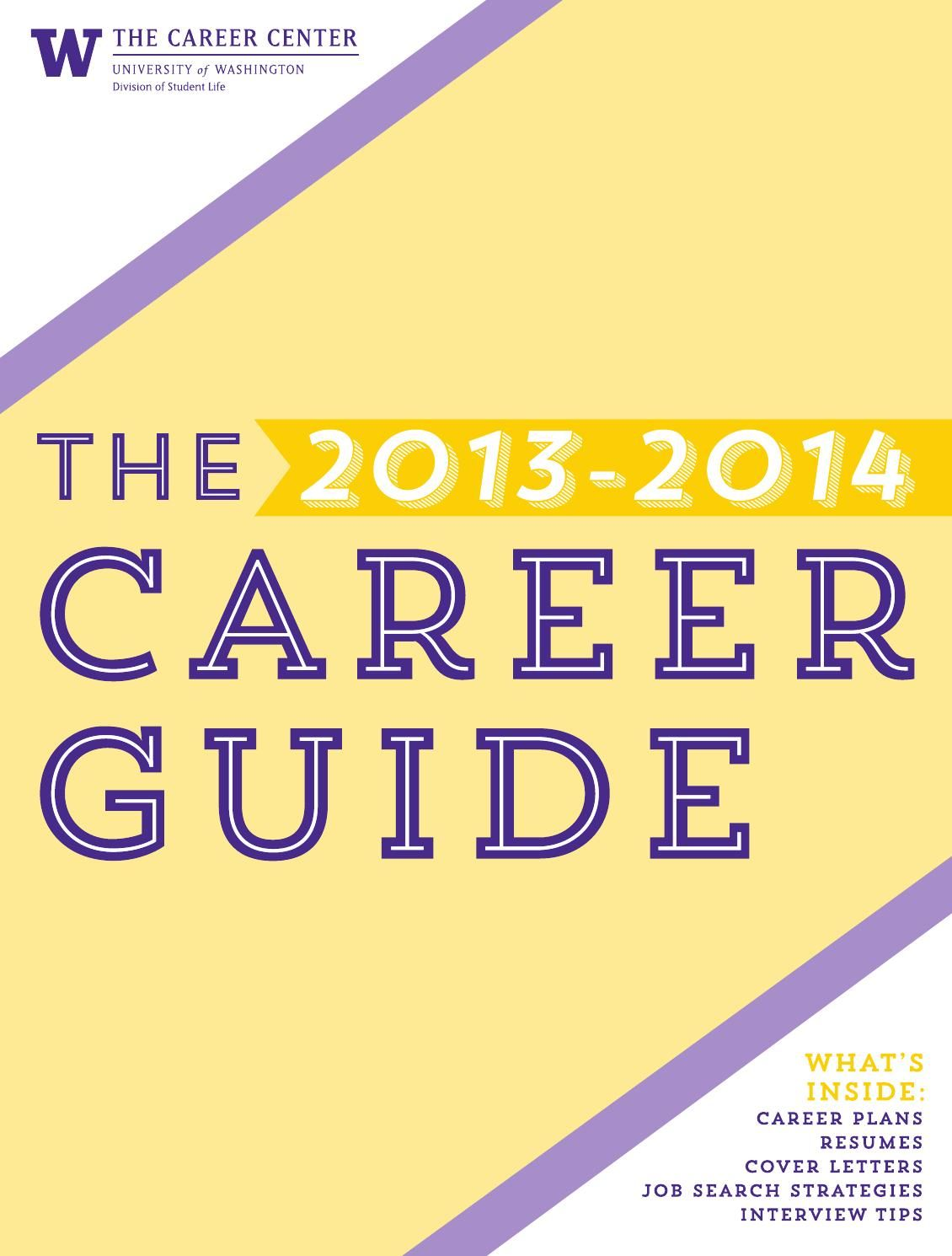 University Of Washington Career Guide  Newspaper