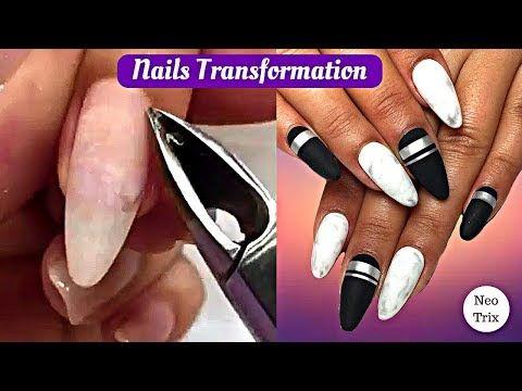 Best Black And White Matte Nails Manicure Tutorial Super Nail