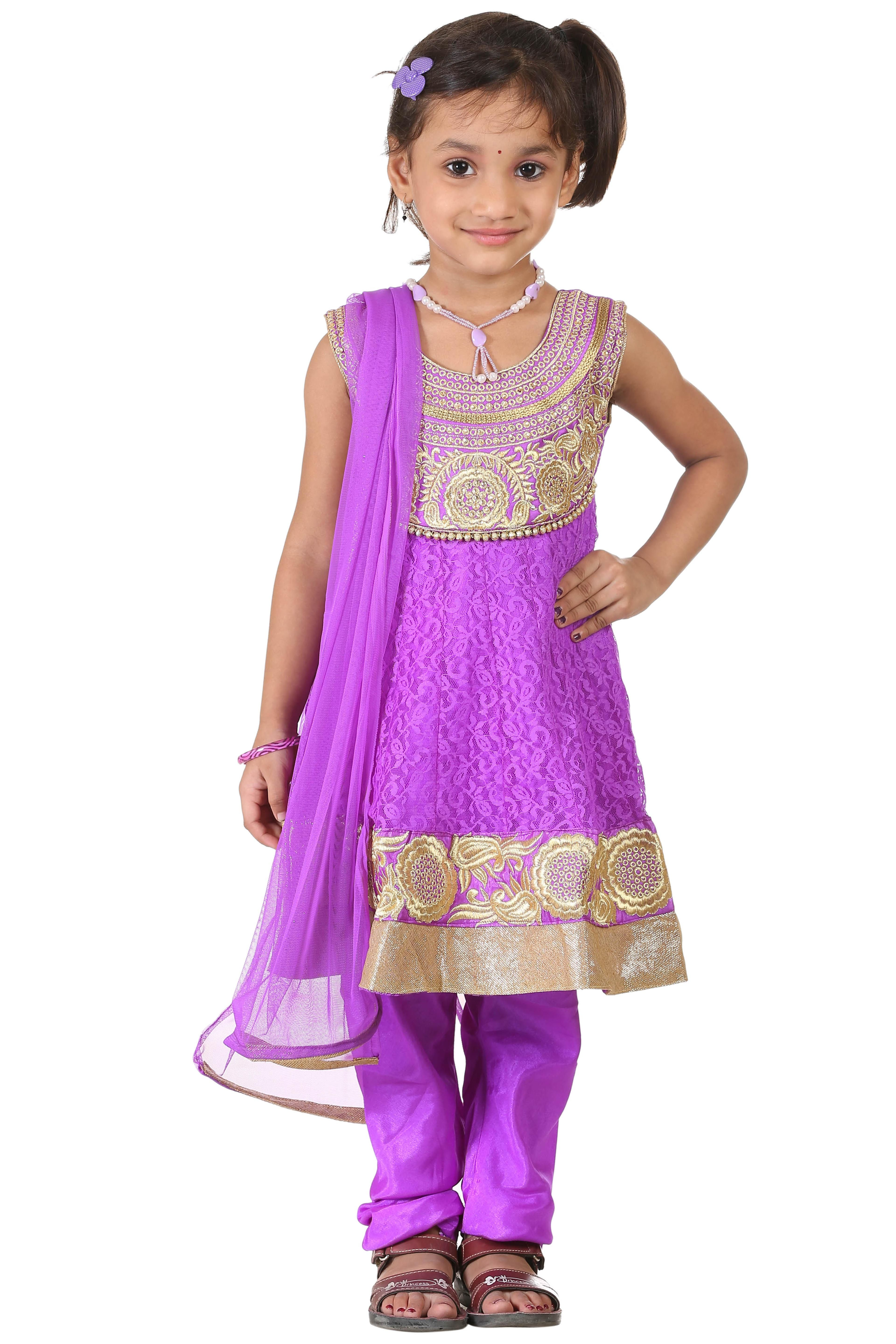 Buy Ashwini Girls\' Netted Salwar Suit for Girls from age 2-8 years ...