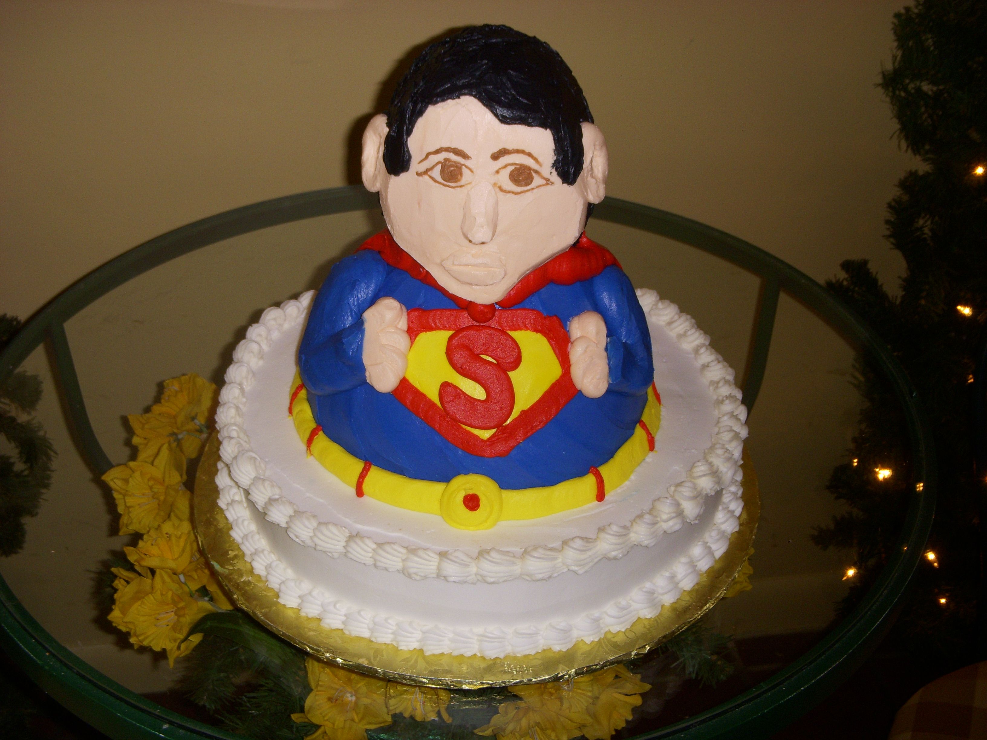 Superman Cake, specialty cake, groom's cake, birthday cake, http://tiered-expressions.com