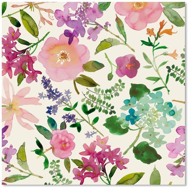 Floral Watercolor Wrapping Paper Roll Floral Watercolor Floral
