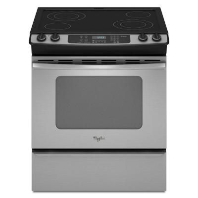 Whirlpool Gold 4 5 Cu Ft Slide In Electric Range With Self Cleaning Oven In Stainless Steel Gy397lxus At Th Slide In Range Self Cleaning Ovens Electric Range