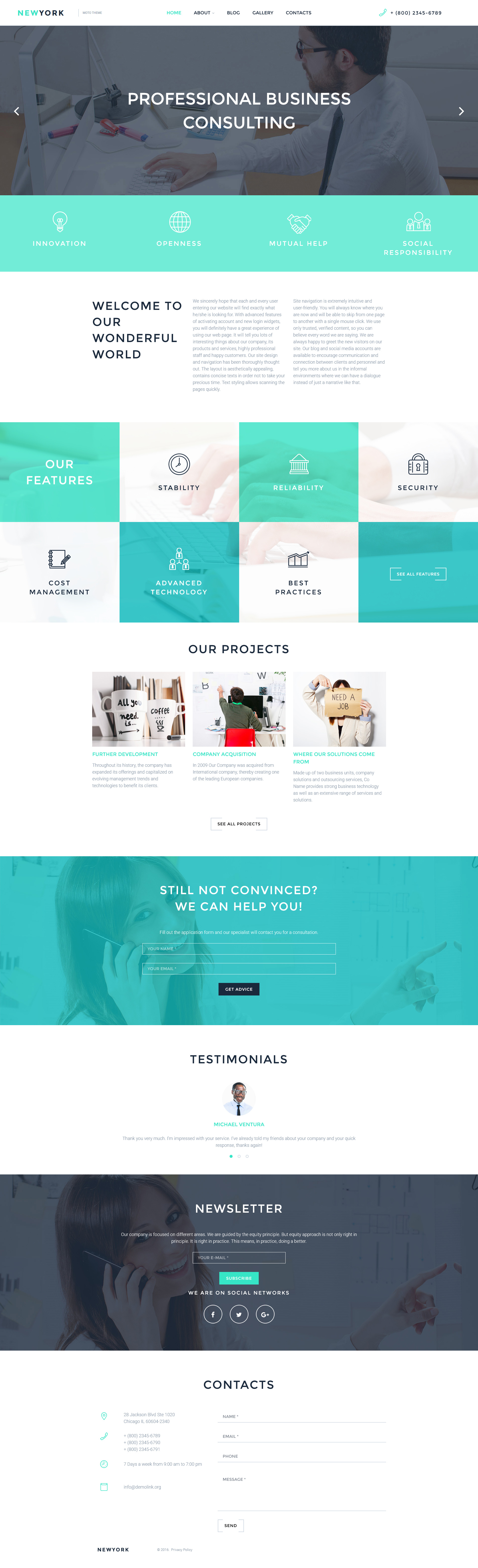 Consulting Responsive Moto CMS 3 Template | New Website Templates ...
