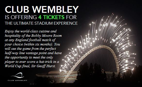 Club Wembley is offering 4 tickets for the ultimate stadium