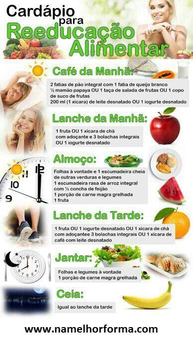 dieta saudável para emagrecer cardapio