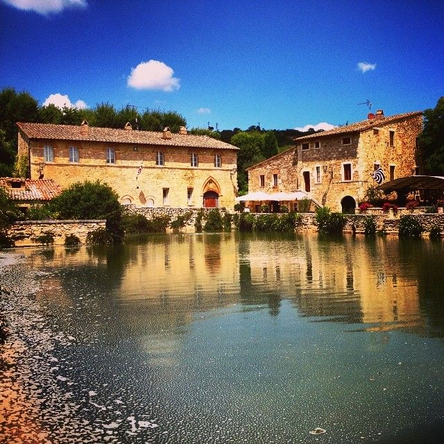 Terme Bagno Vignoni Siena Valdorcia Toscana Italia