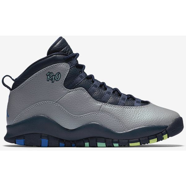 best cheap e202b 3530f Air Jordan Retro 10 (3.5y-7y) Big Kids  Shoe. Nike.com ( 140) ❤ liked on  Polyvore featuring shoes