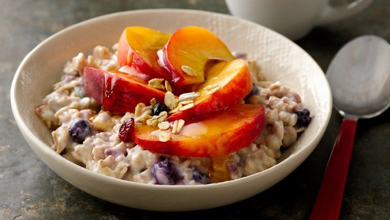Soaking Nature Valley™ toasted oats muesli in kefir adds extra protein for a breakfast that will last until lunchtime.
