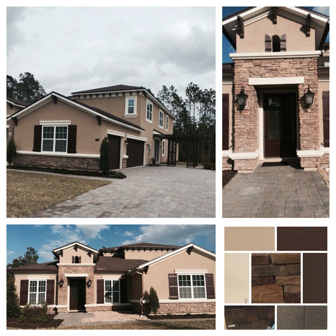 Exterior Paint Colors Stucco House Choosing For The: Color Pallet For The Exterior Of The House. Dryvit Stucco