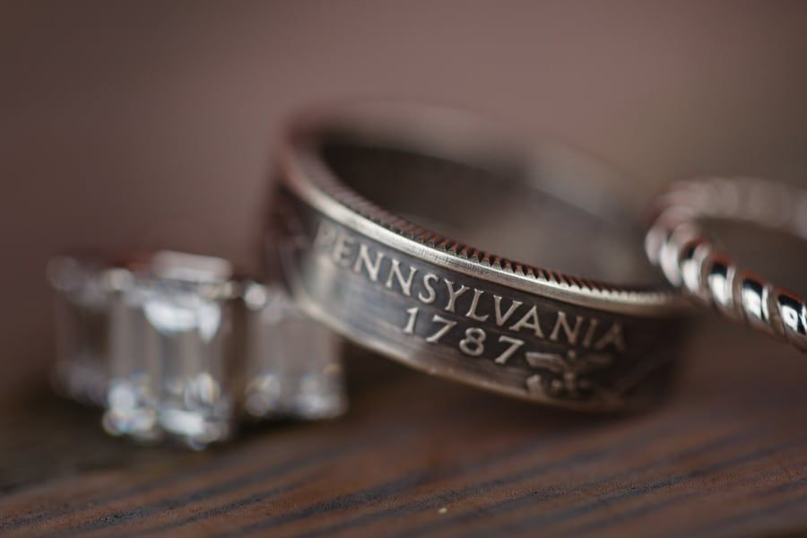 Rainy Urban Casual And Eclectic Wedding In Pittsburgh Mens Wedding Bands Unique Mens Wedding Bands Rings For Men