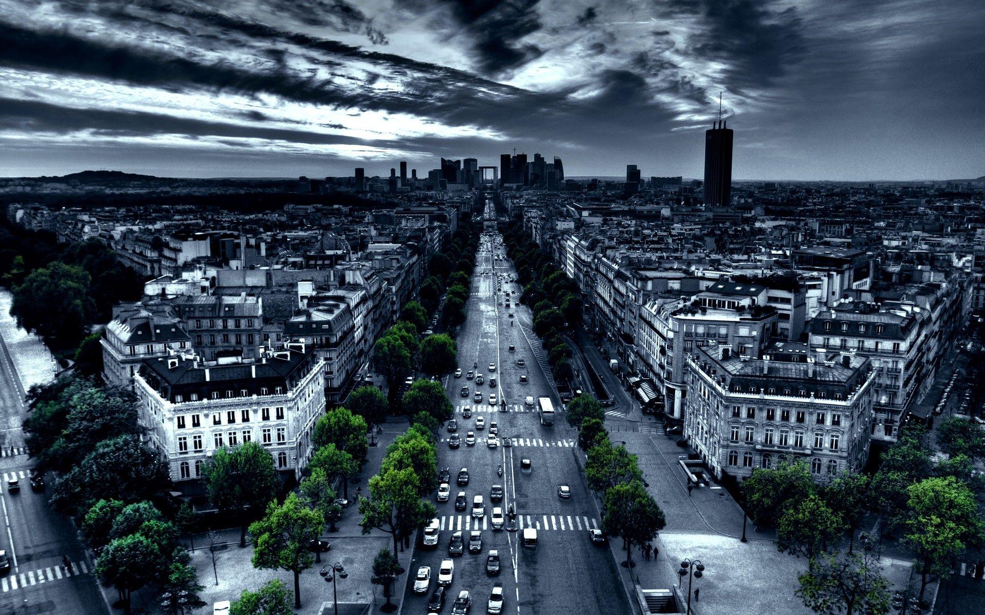 Paris cityscapes france traffic artwork selective coloring wallpaper   1920x1200   8442   WallpaperUP