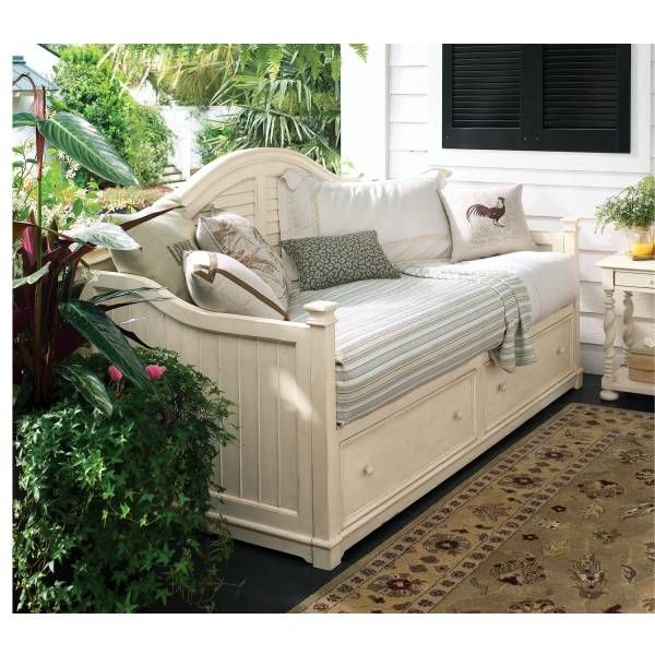 paula deen distressed linen day bed universal furniture star furniture houston tx - Paula Deen Bedroom Furniture
