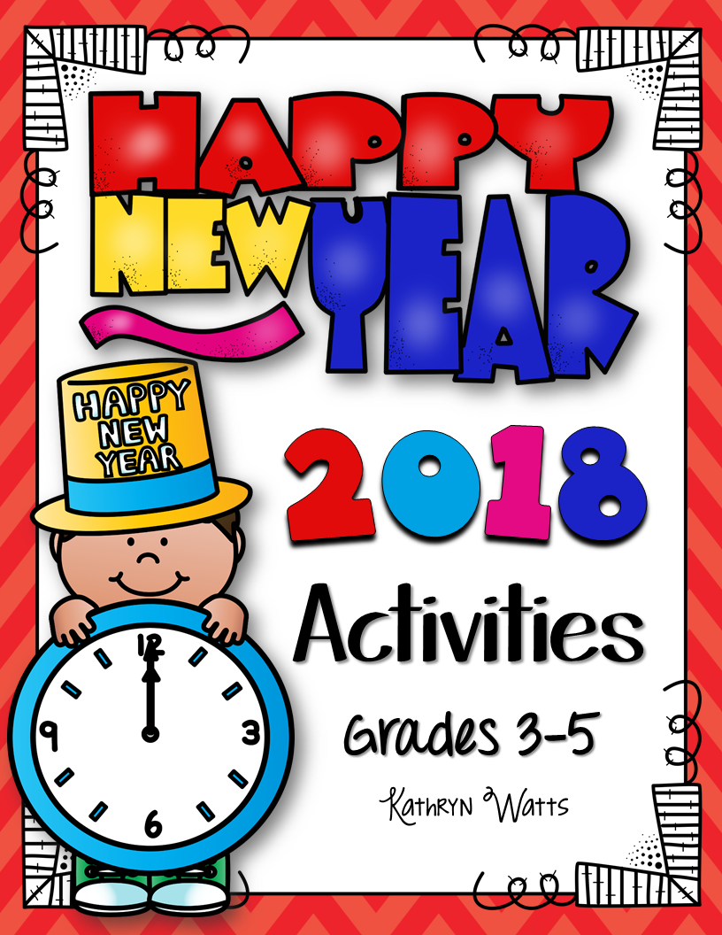 New Years 2018 Grades 3 5   Activities, Teaching resources and