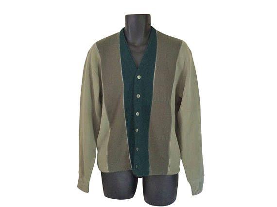 Vintage Mr Rogers Cardigan Mr Rogers Sweater 60s Men Sweater 1960s Men Thevillevintage Sweaters Men Sweater Vintage Men