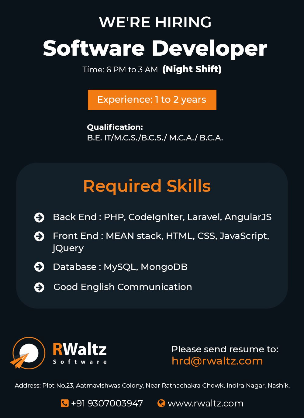 We Are Hiring Software Developer Software Development Resume Software Web Development Company